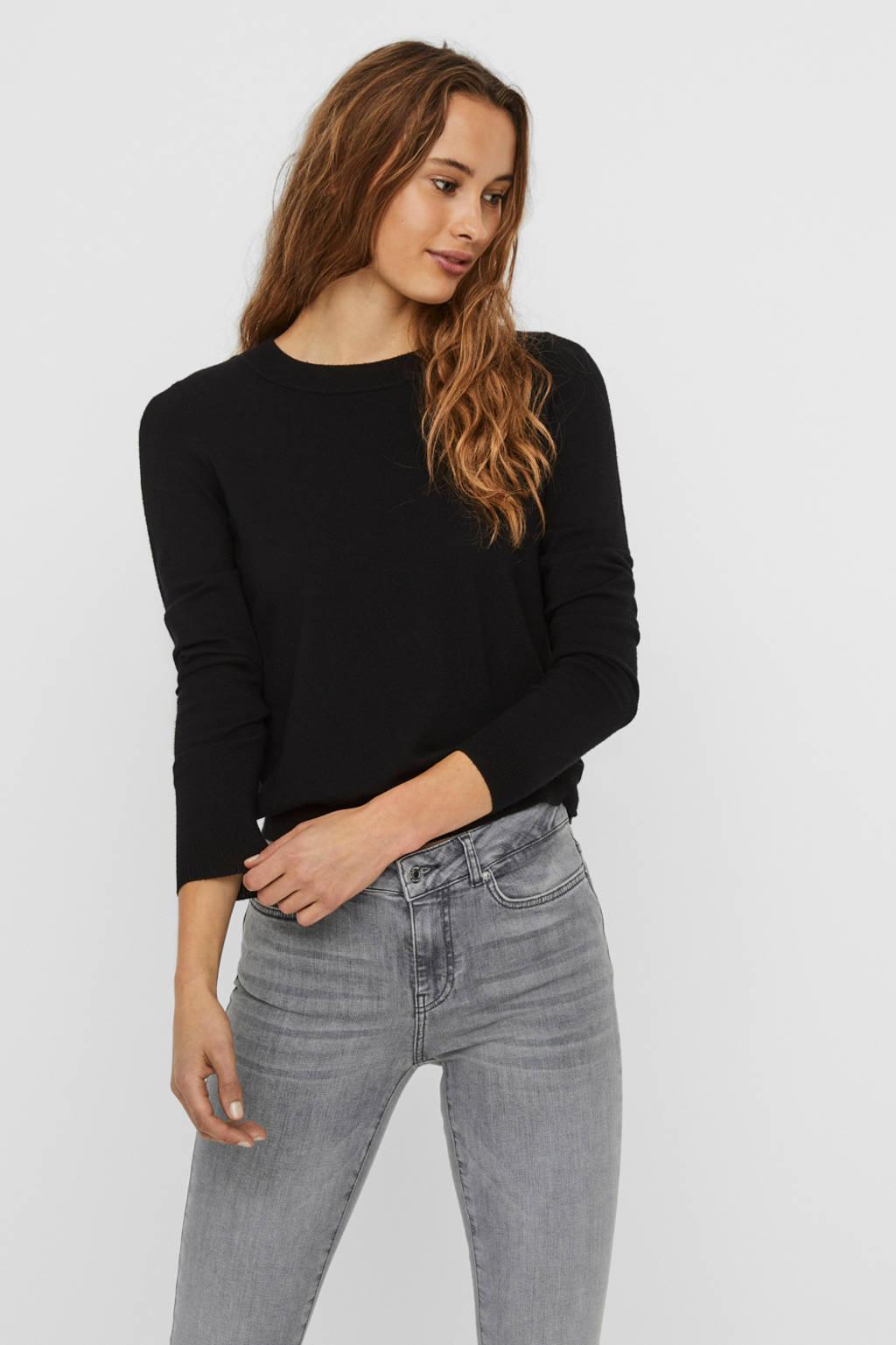 VERO MODA gebreide trui Happines zwart, Zwart