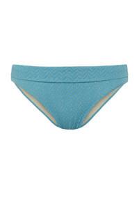 Cyell bikinibroekje met textuur blauw/goud, Blauw/goud