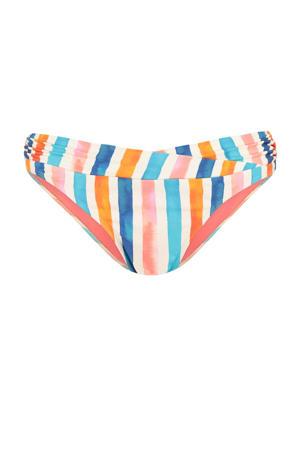 gestreept bikinibroekje ivoor/blauw/roze
