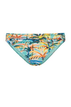 bikinibroekje met all over print blauw/geel/oranje