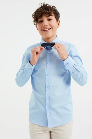 overhemd met vlinderstrik lichtblauw