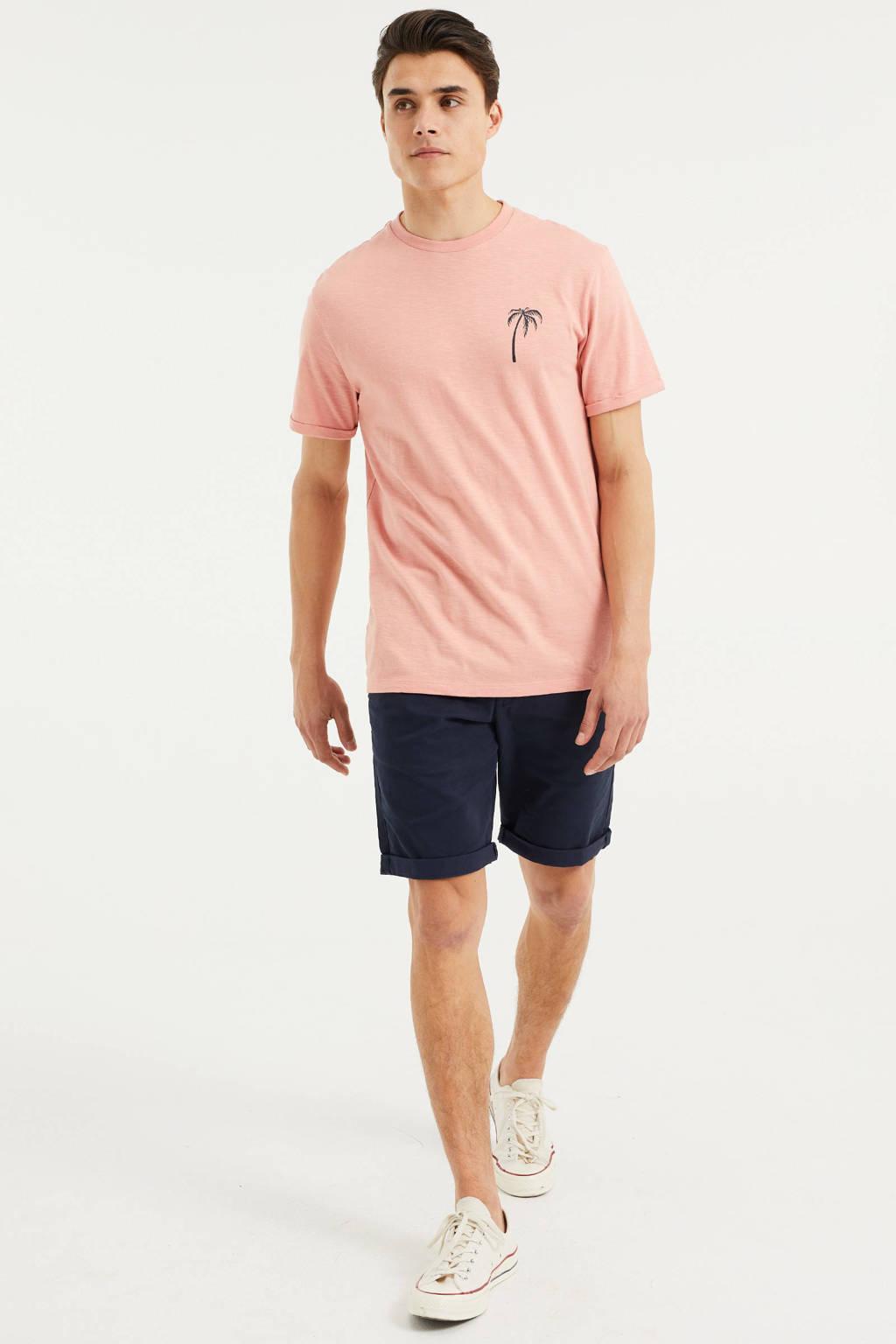WE Fashion T-shirt met printopdruk lichtroze, River Rouge