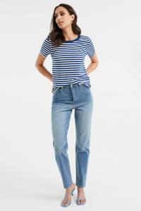 WE Fashion gestreept T-shirt blauw/wit, Blauw/wit