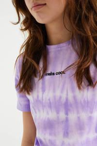 WE Fashion tie-dye T-shirt lila/wit, Lila/wit