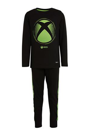 pyjama zwart/groen