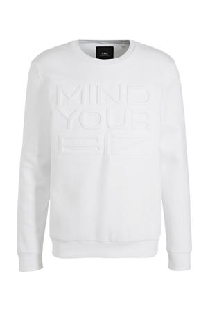 sweater met 3D applicatie wit