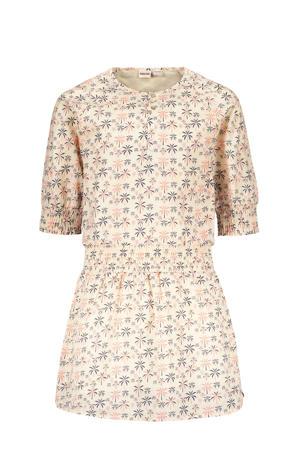 jurk Lola met all over print offwhite/roze