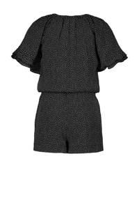 Street called Madison jumpsuit Sweety met stippen zwart/wit, Zwart/wit