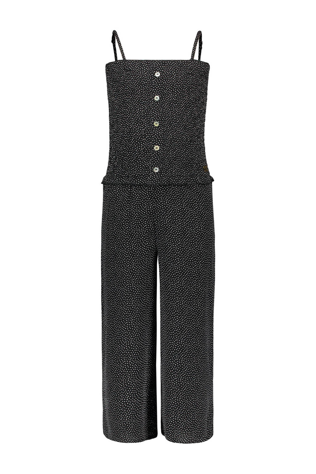 Street called Madison jumpsuit Dotty met stippen zwart/wit, Zwart/wit