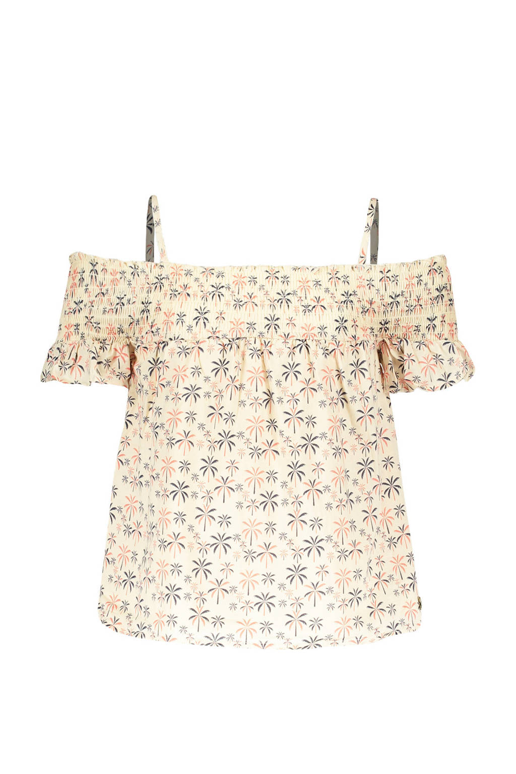 Street called Madison top Sunny met all over print off white/geel, Off white/geel