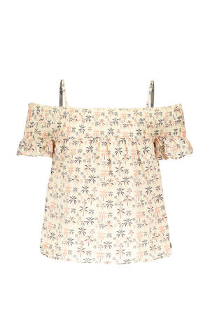 top Sunny met all over print off white/geel