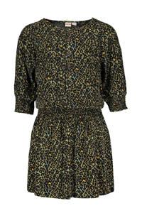 Street called Madison jurk Lola met dierenprint armygroen/geel, Armygroen/geel