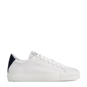 Jason  leren sneakers wit/blauw