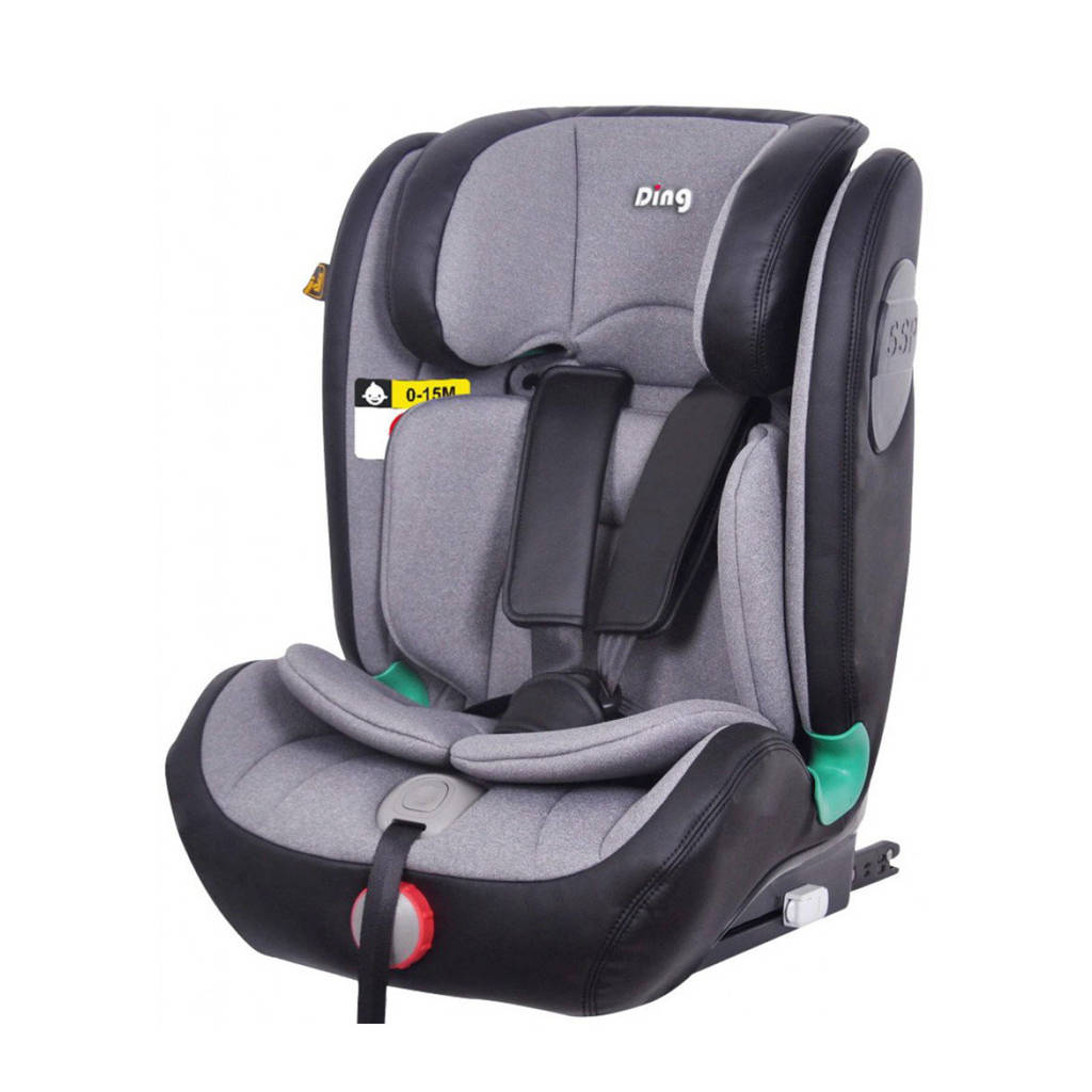 Ding I-Size autostoel York Limited Edition Isofix/top tether 9-36kg Grijs