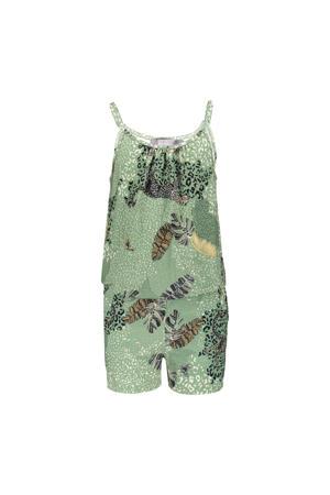 jumpsuit met all over print groen