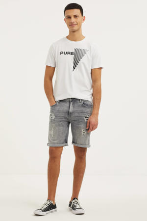 regular fit jeans short The Steve W0458 grijs