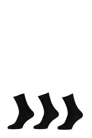 Bamboo sokken - set van 3 zwart