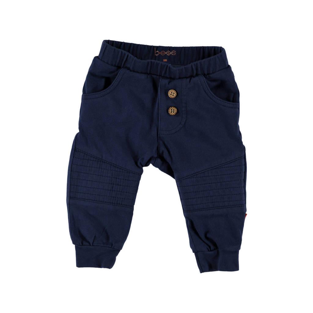B.E.S.S regular fit broek donkerblauw, Donkerblauw
