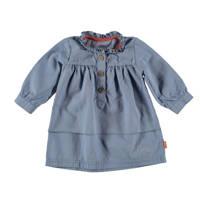 B.E.S.S jurk met franjes blauw, Blauw