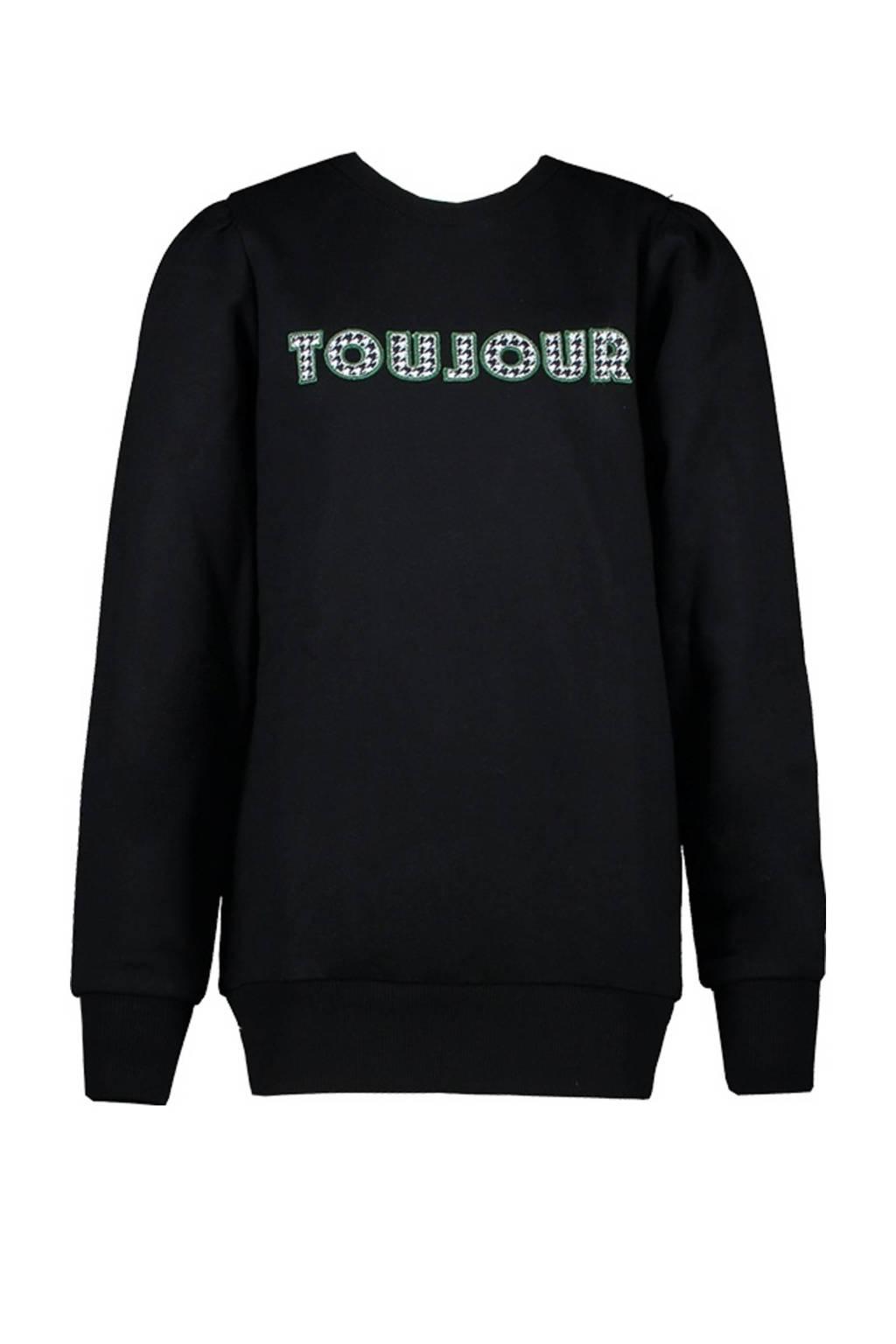 Cars sweater Loe met tekst zwart, Zwart