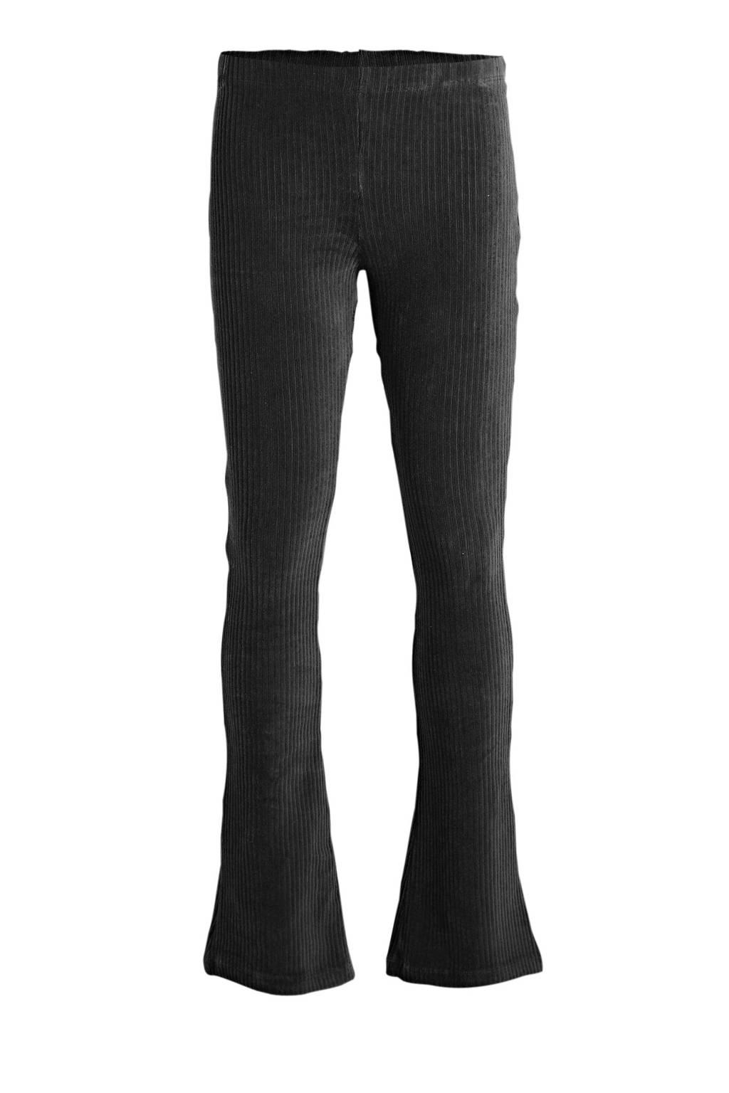 Cars corduroy high waist broek Zuma zwart, Zwart