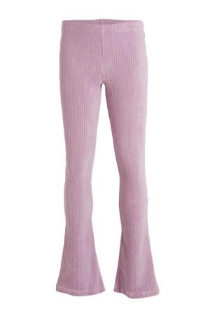 corduroy high waist broek Zuma lila