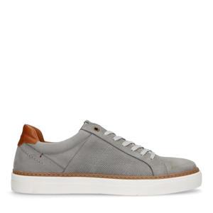 nubuck sneakers grijs/taupe
