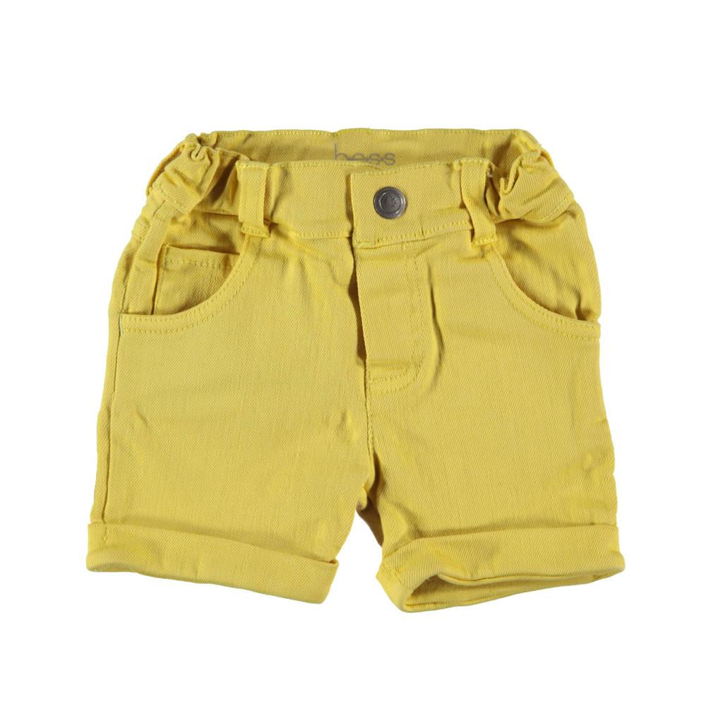 B.E.S.S baby slim fit short geel, Geel