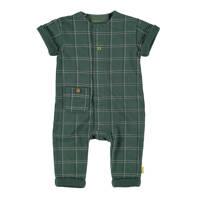 B.E.S.S baby geruit boxpak groen, Groen