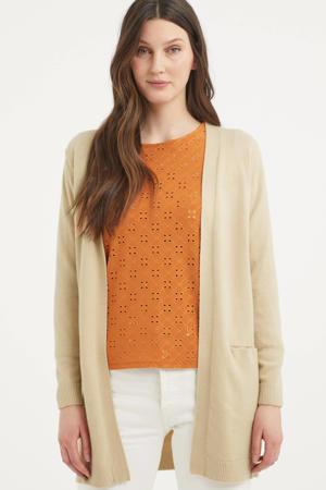 gebreid vest BYNONINA CARDIGAN - beige
