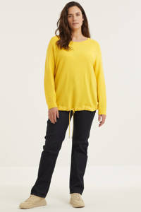 ESPRIT Curvy ribgebreide trui geel, Geel
