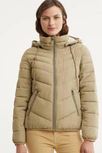 edc Women gewatteerde jas beige, Beige