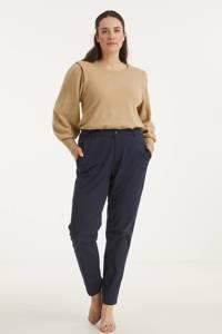 ESPRIT Curvy slim fit broek donkerblauw, Donkerblauw