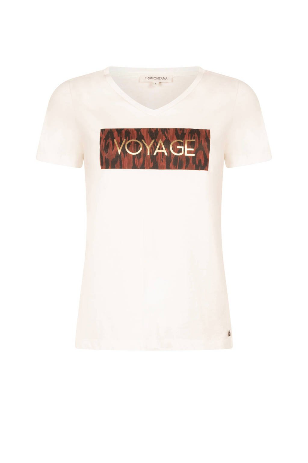 Tramontana T-shirt met printopdruk ecru, Ecru
