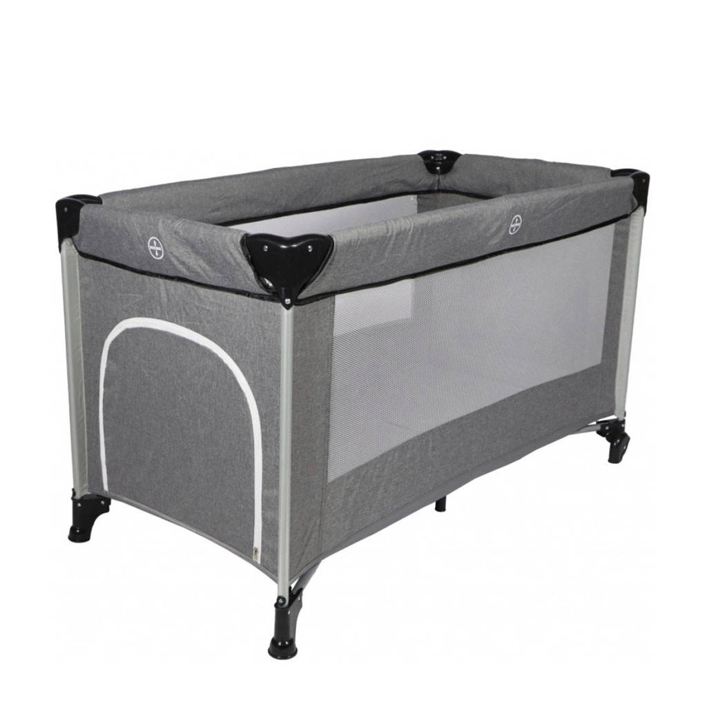 Ding campingbed Stripe deluxe- Grey melange, grey melange