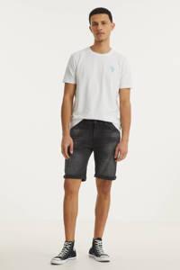 Purewhite slim fit jeans short The Miles W0624 000087 - denim dark grey, 000087 - Denim Dark Grey