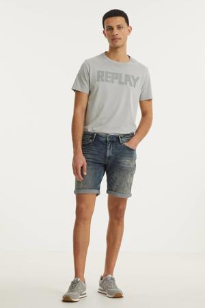 skinny jeans short The Steve W0637 000083 - denim mid blue