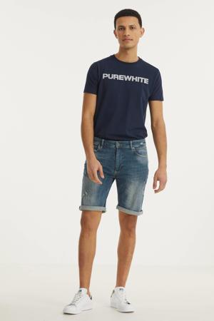 slim fit jeans short The Miles W0628 000088 - denim green/blue
