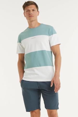 gestreept T-shirt lichtblauw/wit