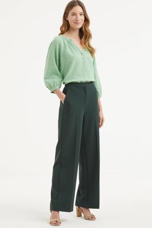 blouse Hikma mintgroen