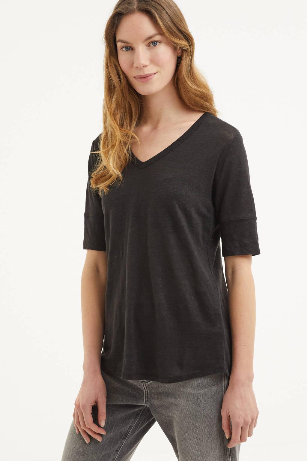 Part Two T-shirt Curly zwart, Zwart