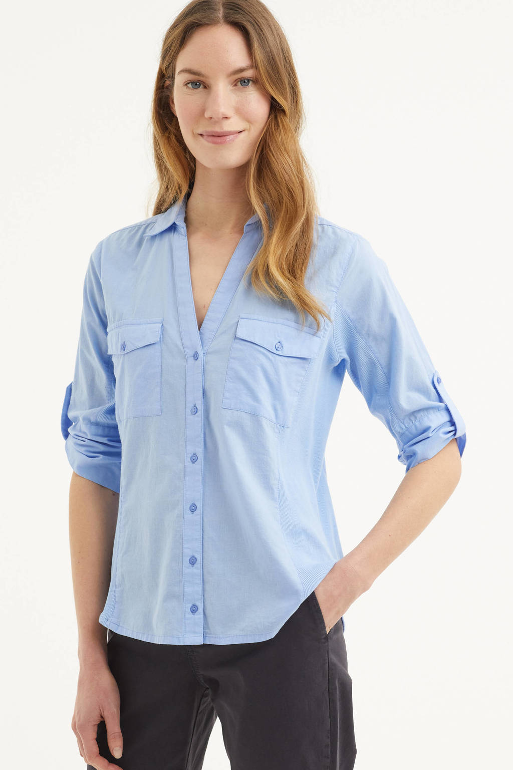 Part Two blouse Cortnia lichtblauw, Lichtblauw