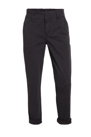 cropped regular fit broek SoffysPW donkerblauw