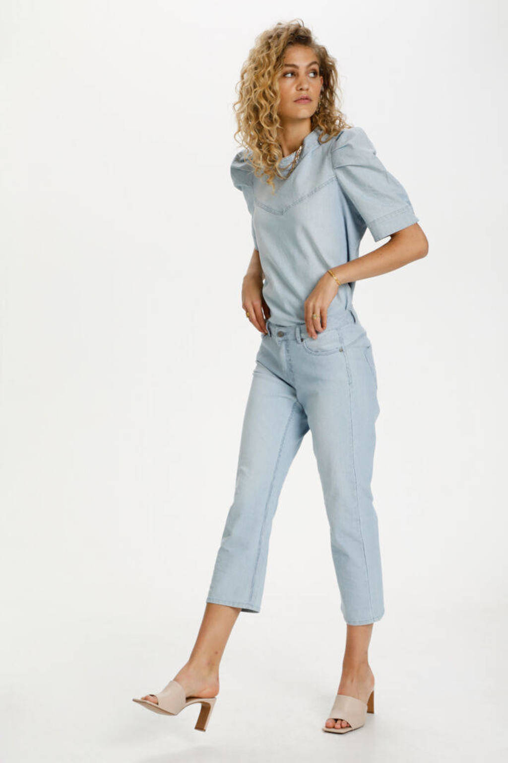 Denim Hunter cropped straight fit jeans DHVitus Cropped Custom 100045 light blue wash, 100045 Light Blue Wash