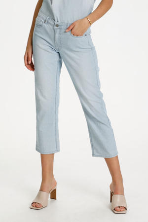 cropped straight fit jeans DHVitus Cropped Custom 100045 light blue wash