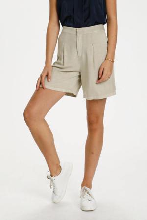 high waist wide leg korte broek DHCosmo Shorts beige