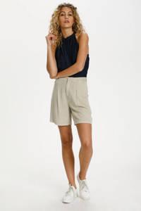Denim Hunter high waist wide leg korte broek DHCosmo Shorts beige, Beige