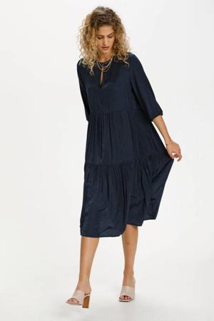 trapeze jurk DHBologna Dress met open detail donkerblauw