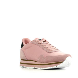 Nora III Plateau  suède sneakers roze