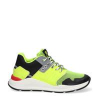 Braqeez Ramon Rio  sneakers neon geel, Neon geel/zwart